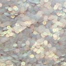6mm Flat Loose Sequin Paillette Copper Tint Crystal Luminescent Moonbeam