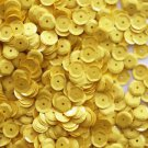 8mm Cup SEQUIN FACET PAILLETTE~ Opaque Rich YELLOW ~Made in USA
