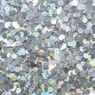 6mm Flat Loose Sequin Paillette Silver Lazersheen Reflective Metalic Made in USA