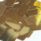 Gold Metallic Sequin 2 hole Rectangle 1.5 inch Couture Loose Paillettes