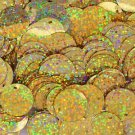 20mm ROUND SEQUIN PAILLETTES ~ GOLD MULTI HOLOGRAM Metallic ~ Made in USA