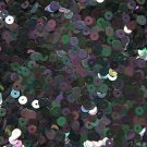 5mm Flat Sequin ~ Black Rainbow Iris ~ Loose Paillette Made in USA