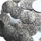 30mm Sequins Gray Black Snakeskin Reptile Pattern Metallic