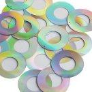 Silver Lazersheen Sequin Circle Donut 1.5 inch Large Couture Paillettes