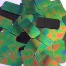 Green Jungle Rainbow Black Sequins Rectangle 1.5 inch Couture Paillettes