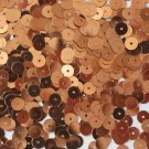 6mm Flat SEQUIN PAILLETTES ~ Premium COPPER Metallic ~ Round ~ Made in USA