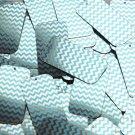 "Rectangle Sequin 1.5"" Aqua Blue Silver Chevron Zig Zag Pattern Metallic"