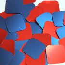 "Square Diamond Sequin 1.5"" Red Blue Matte Silk Frost"