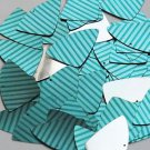 "Fishscale Fin Sequin 1.5"" Teal Blue Green Corrugated Stripe Metallic"