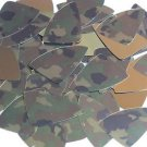 "Fishscale Fin Sequin 1.5"" Camo Brown Green Camouflage Gold Metallic"