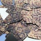"Fishscale Fin Sequin 1.5"" Gold Brown Snakeskin Reptile Pattern Metallic"