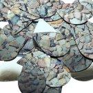 """Teardrop Sequin 1.5"""" Brown Stone Rocks Pebbles Gravel Gold Metallic"""