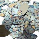 "Navette Leaf Sequin 1.5"" Brown Stone Rocks Pebbles Gravel Gold Metallic"