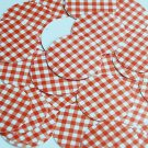 "Round Sequin 1.5"" Red White Gingham Plaid Checker Pattern Opaque"