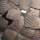 "Square Diamond Sequin 1.5"" Deep Brown Distressed Crocodile Print Metallic"