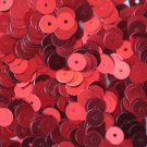 6mm Flat SEQUIN PAILLETTES ~ RED Metallic ~ Round Disc ~ Made in USA