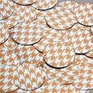 Round Sequin 30mm Orange Silver Houndstooth Pattern Metallic