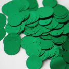 20mm ROUND SEQUIN PAILLETTES ~ GREEN METALLIC ~ Flat Sequin Disc Made in USA