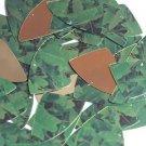 "Fishscale Fin Sequin 1.5"" Green Burdock Dock Leaf Gold Metallic"