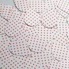 """Teardrop Sequin 1.5"""" Red Polka Dot on White Opaque"""