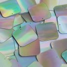 Silver Lazersheen Sequin Reflective Square 30mm ( 1.25 inch ) Couture Paillettes