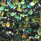 6mm Cup SEQUIN FACET Loose PAILLETTES ~ GREEN JUNGLE Premium Rainbow Metallic