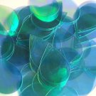 "Teardrop Sequin 1.5"" Aqua Blue Iridescent Rainbow Crystal Rainbow Iris Iridescen"