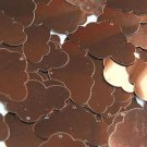 """Bronze Brown Shiny Metallic Cloud 1.5"""" Couture Sequin Paillettes. Made in USA."""