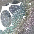"""Silver Hologram Multi Reflective Metallic Sequin Oval 2"""" Large Couture Paillette"""