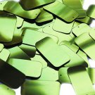 Lime Green Metallic Sequins Rectangle Long 1.5 inch Couture Paillettes