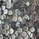 8mm Cup SEQUIN FACET PAILLETTE~ SILVER Laser Hologram Metallic ~ Made in USA