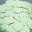 """Square Diamond Sequin 1.5"""" Lime Green Silver Houndstooth Pattern Metallic"""