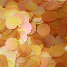 20mm Flat SEQUIN PAILLETTE~ APRICOT PEACH Orange CRYSTAL Rainbow Iris Iridescent