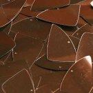 "Bronze Brown Metallic Shiny Fishscale Fin 1.5"" Couture Sequin Paillettes"