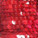 Sequin Trim 10mm Iron On Red Metallic. Made in USA
