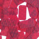 3D Red Sequin Rectangle Long 1.5 inch Dimensional Reflector Paillettes