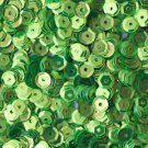 5mm Cup SEQUIN FACET PAILLETTES ~ LIME GREEN Metallic ~ Made in USA