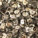 6mm Cup SEQUIN FACET PAILLETTES ~ SILVER  Metallic ~ Made in USA