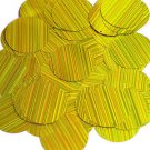 Yellow Sequin Round 1.5 inch City Lights Reflective Large Couture Paillettes