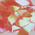 "Long Diamond Sequin 1.75"" Orange Ultra Crystal Rainbow Iris Iridescent"