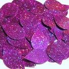 Purple Glitter Sparkle Sequins Teardrop 1.5 inch Large Couture Paillettes