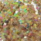 6mm Flat Loose Sequin Paillette Gold Metallic Iris Rainbow Made in USA