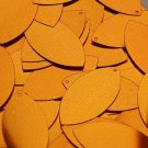 Orange Metallic Navette Leaf Sequins 1.5 inch Couture Paillettes Made in USA