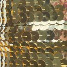 Sequin Trim 10mm Iron On Gold Metallic. Made in USA
