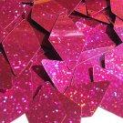 Fuschia Pink Glitter Sparkle Sequins Long Diamond 1.75 inch Couture Paillettes