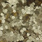 5mm Flat SEQUIN Loose PAILLETTES ~ Gold Matte SILK FROST ~ Made in USA.