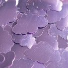 """Lavender Lilac Shiny Metallic Cloud 1.5"""" Couture Sequin Paillettes. Made in USA"""