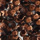 8mm Cup SEQUIN FACET PAILLETTES ~ Premium BRONZE Metallic ~ Made in USA