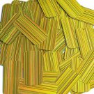 Yellow Sequins City Lights Rectangle 1.5 inch Reflective Couture Paillettes