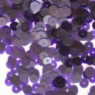 6mm Flat Sequin Paillettes Purple Plum Transparent See Thru Made in USA